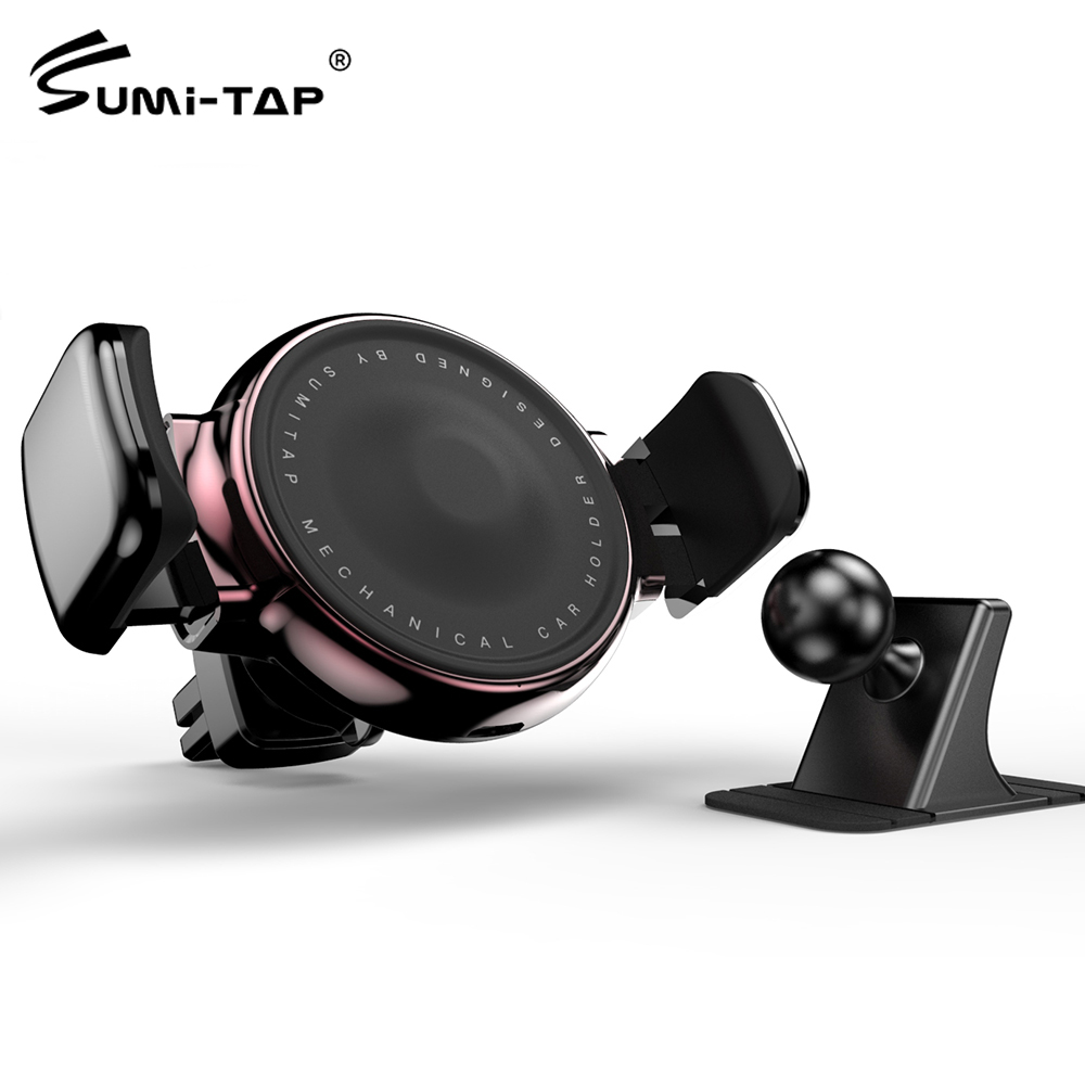 Black Sumitap Universal Magnetic Mount Cellphone Car Holder for Mobile Devices