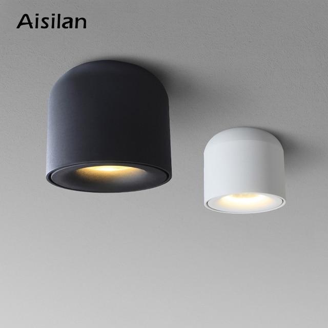 Aisilan LED 통 천장 스포트 라이트 생활 램프 북유럽 조명 부엌 통로 스포트 라이트 표면 탑재 AC90 260v