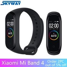 Original Xiaomi Mi Band 4 pulsera inteligente pulsera de Fitness MiBand 4 Tiempo de ritmo cardíaco Mensaje de pantalla táctil grande Smartband