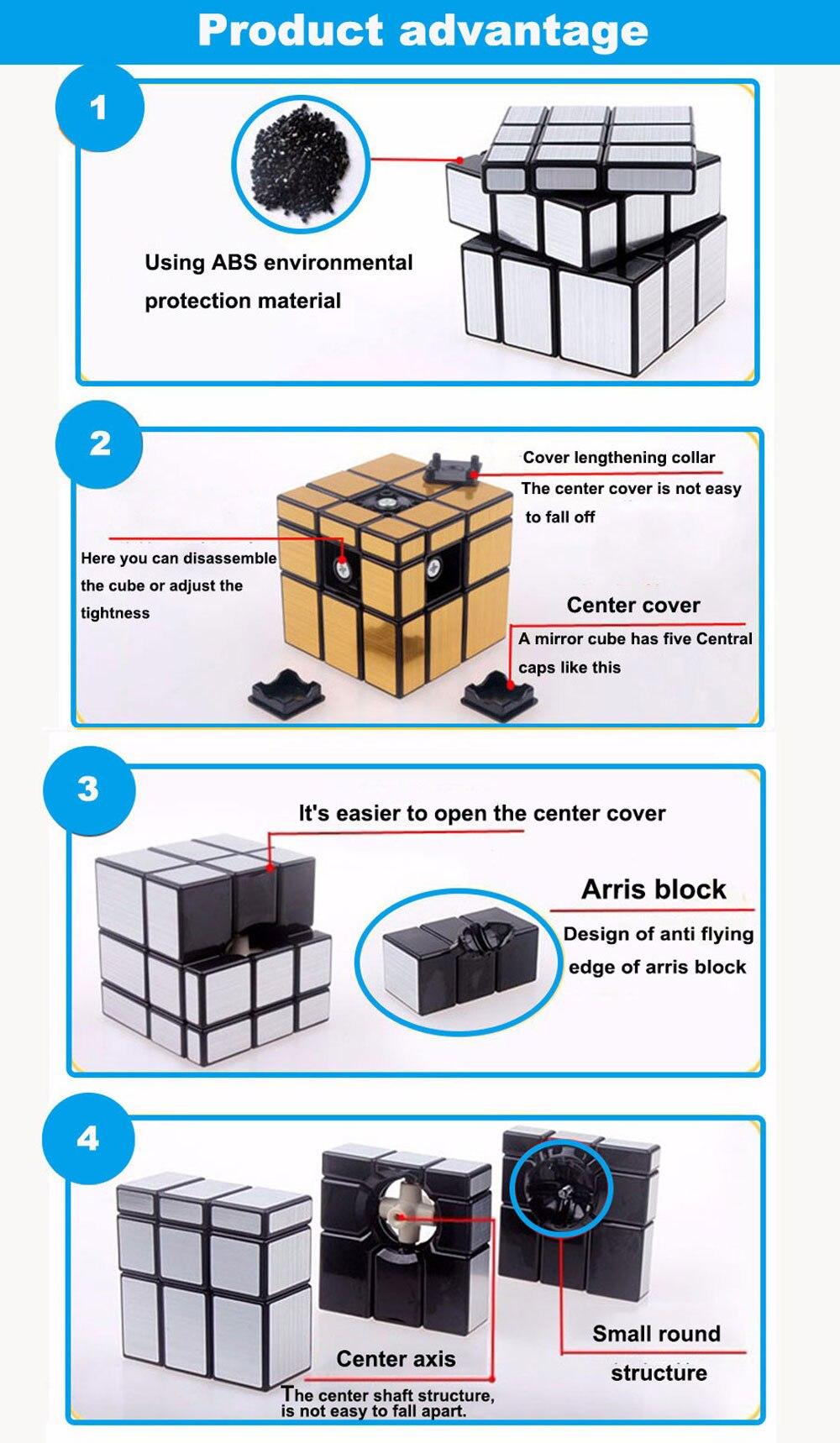 Cubo mágico 3x3x3, quebra-cabeça revestido de mágico,
