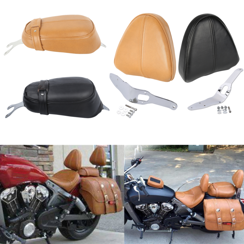 Motorcycle Driver Backrest Support Leather W/Pad For Indian Scout 2015-2018 Sixty 2016-2018