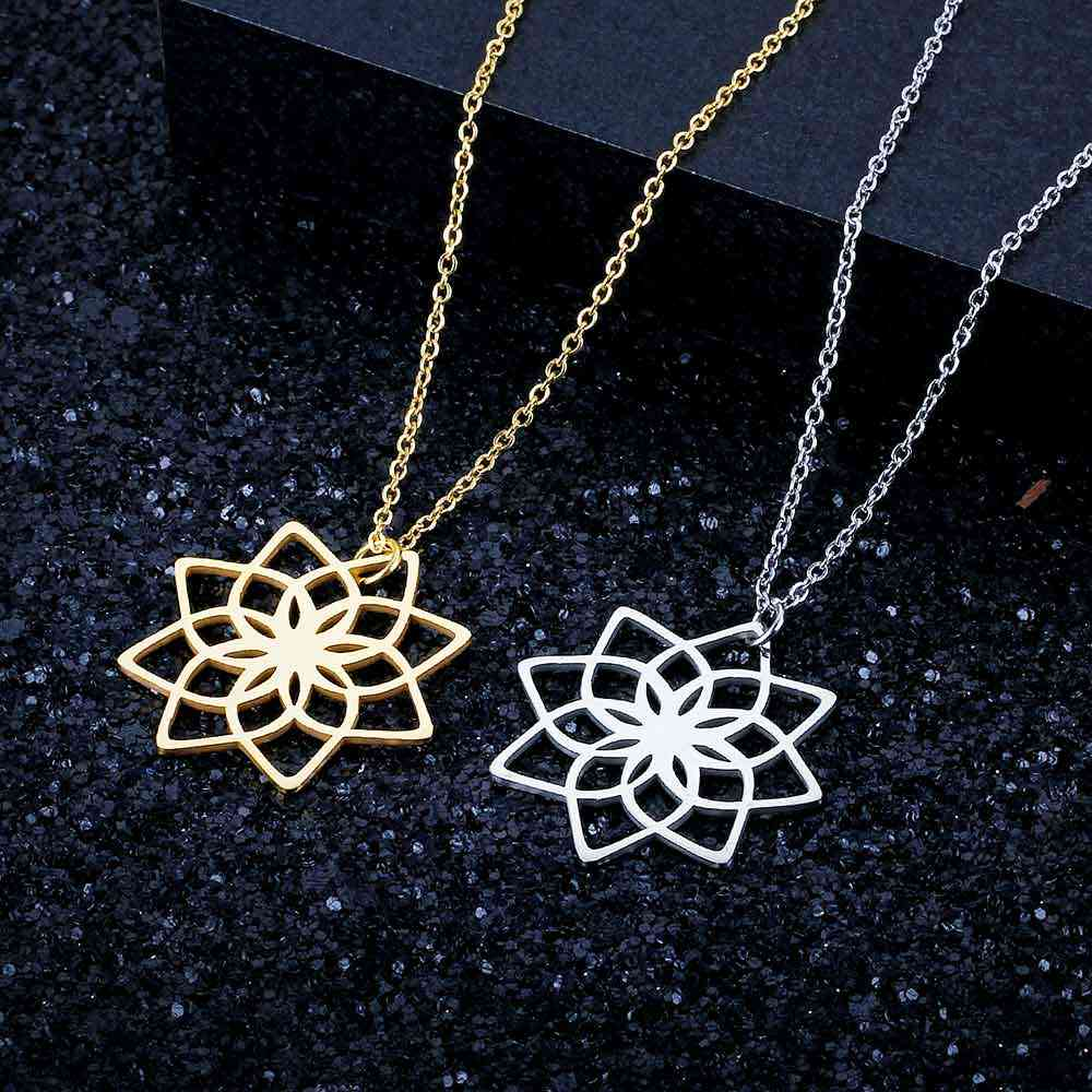 Unique Lotus Yoga Necklace LaVixMia Italy Design 100% Stainless Steel Necklaces for Women Super Fashion Jewelry Special Gift