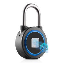 Blue Security Keyless USB Rechargeable Smart Padlock Lock Fingerprint Padlock Locks Smart Bluetooth Keyless Biometric Door Locks