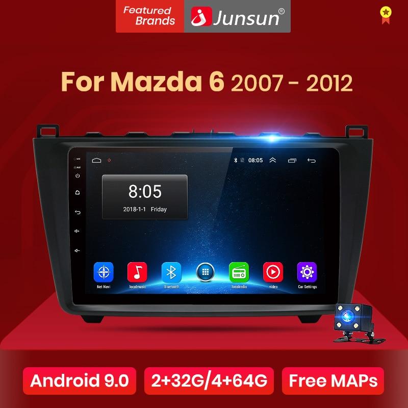 Junsun V1 2G + 32G Android 9,0 DSP auto Radio Multimedia reproductor de vídeo para Mazda 6 2007 - 2012 GPS de navegación 2 din DVD RDS
