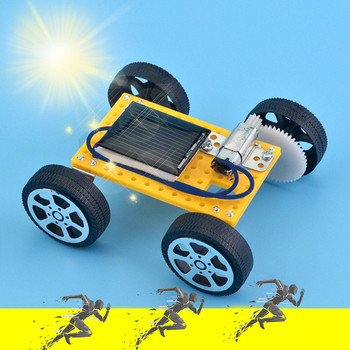 Solar Car DIY Toy Set Solar Powered Car Kit Educational Science for Solar energy Kids toys Juguetes brinquedos игрушки New style image