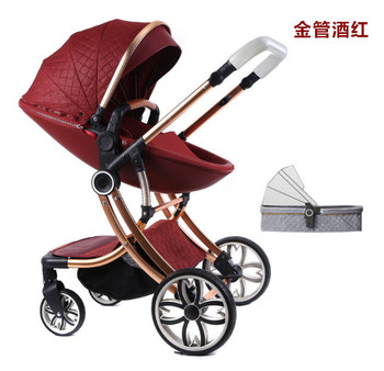цена на Baby Stroller Can Sit Reclining 2 In 1 Steerable Newborn Shock Absorber Four Wheel Children Baby Stroller Foldable Baby Stroller
