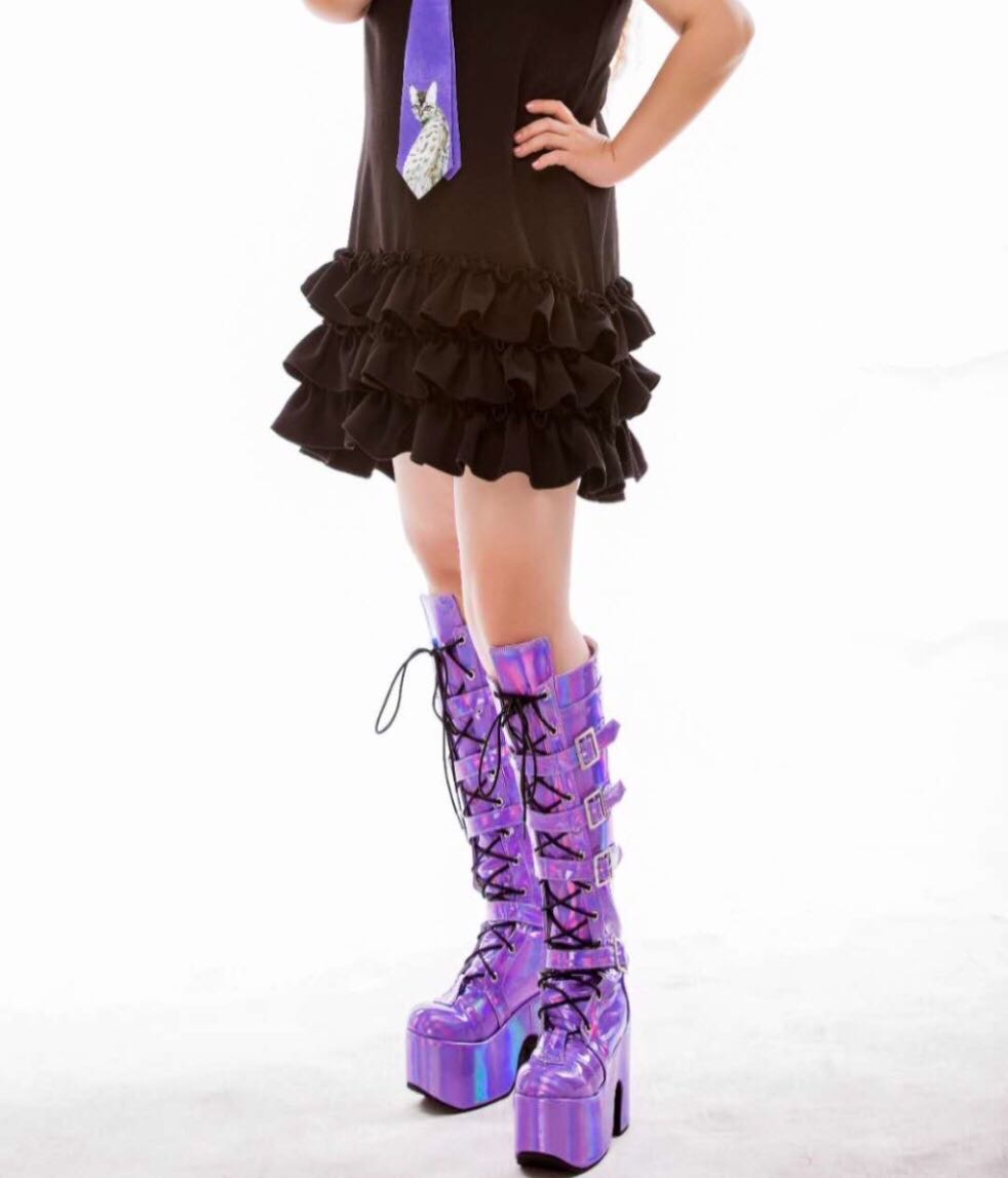 Colorful-High-Platform-Knee-High-Boots-Lolita-Cosplay-Show-Buckle-Strape-Lace-up-Thigh-Boots-Custom-Exclusive-2