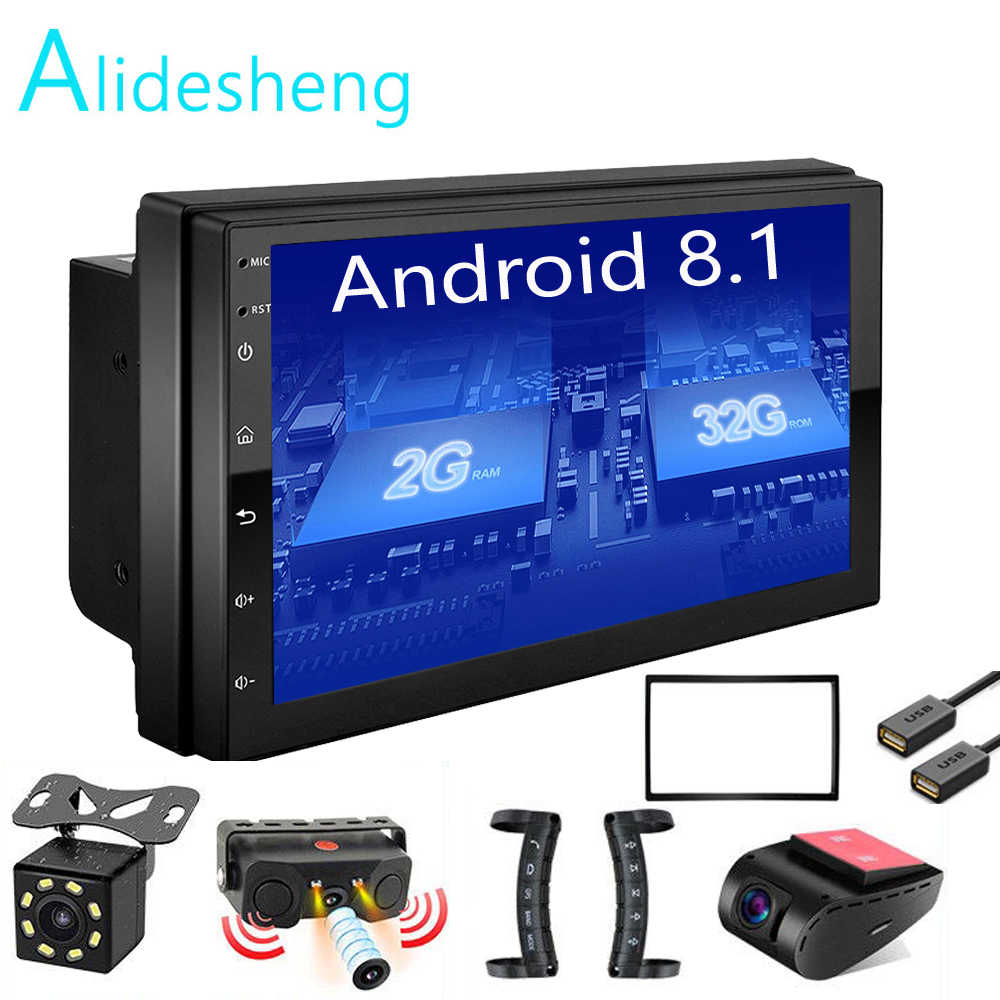 Android 8.1 2 Din 2G+ROM32G Car radio Multimedia Video Player Universal auto Stereo GPS MAP For Nissan Hyundai Kia toyota rav4