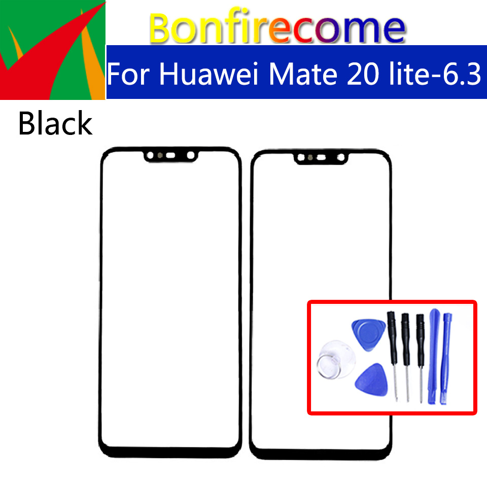 For Huawei Mate 20 Lite Front Glass Replacement Touch Screen Panel LCD Front Glass Outer Screen Lens