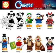 For Friends Mickeys Minnie Mouse Chip Dale Cartoon PRINCESS Donald Scrooge Duck Daisy Mermai Tinker Building Blocks Figures Toys(China)