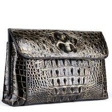 yinshang новый крокодил мужская кожаная сумка конверт кисть золото baglarge емкость бизнес мужчины клатч мужчины сумка 26cm17cm 6см