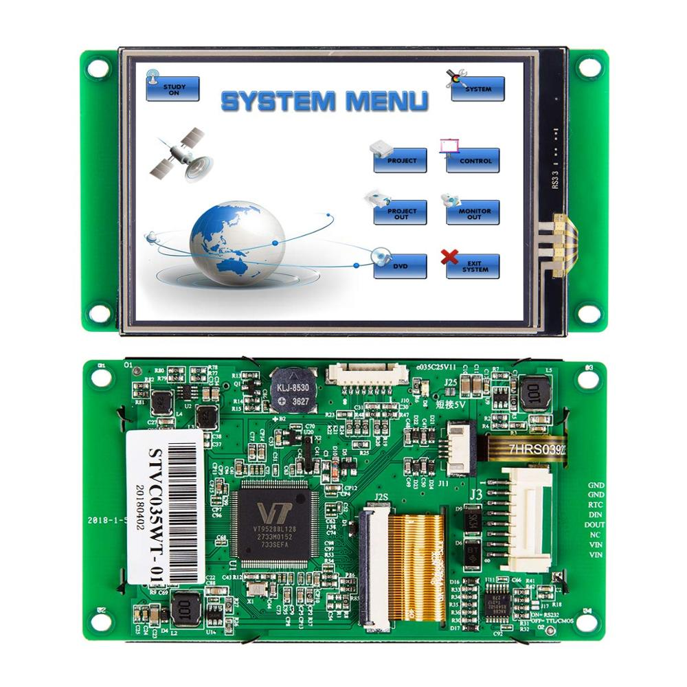 3.5 Inch TFT LCD Driver Monitor Board with RS232 Interface for Equipment Use