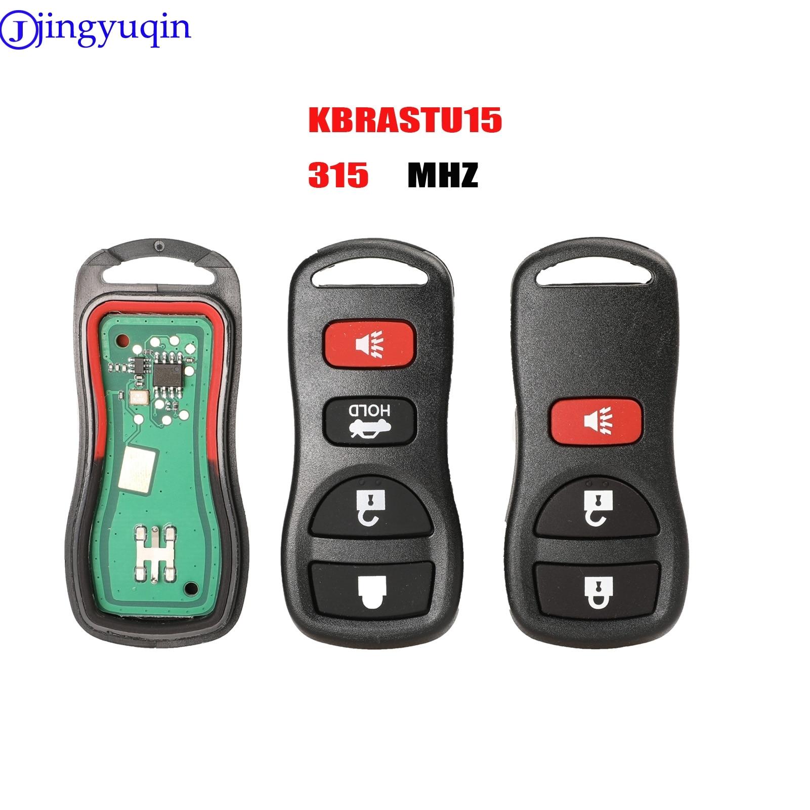 Jingyuqin 315MHZ 3/4 кнопки дистанционного ввода автомобиля ключ для Infiniti/Nissan Frontier Murano Armada Pathfinder 2002-2008 KBRASTU15