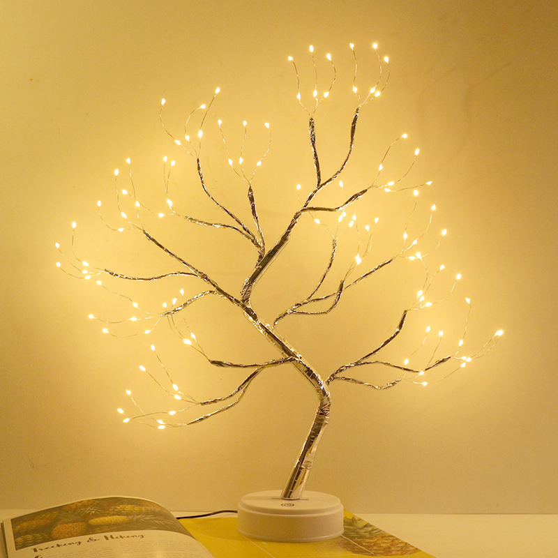 LED Night Light Atmosphere Christmas Tree Night Lamp For Home Kids Bedroom Decor Fairy Lights Bedside lamps Holiday lighting