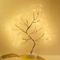 LED Nachtlicht Atmosphäre Weihnachten Baum Nacht Lampe Für Kinder Schlafzimmer Wohnkultur USB Fee Lichter Tisch lampen Urlaub beleuchtung