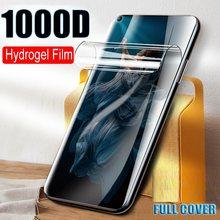 Hydrogel filme macio não vidro para huawei honor 20 pro 9x 8x 10 9 8 lite 20s protetor de cobertura de tela 7a 7c ru película protetora
