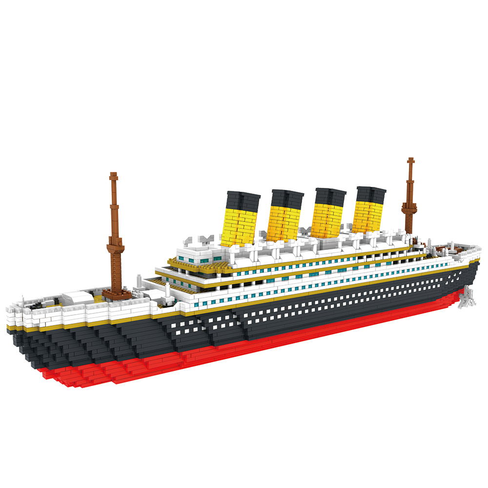 3800 pcs blocos titanic navio de cruzeiro modelo de barco diy montar blocos de construcao classico