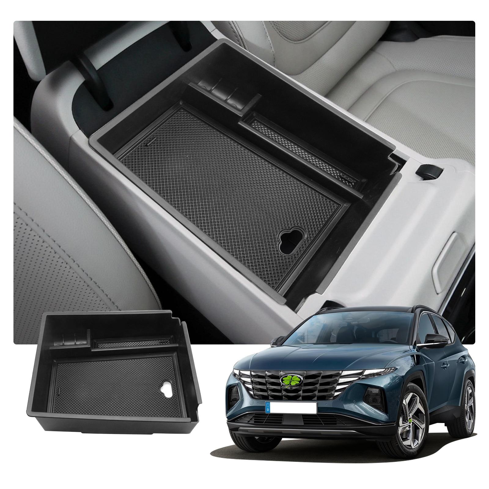 LFOTPP центральный автомобильный подлокотник для хранения Коробка для Tucson NX4 2021 Нескользящий Резиновый Контейнер аксессуары для авто интерьера|Все для уборки|   | АлиЭкспресс