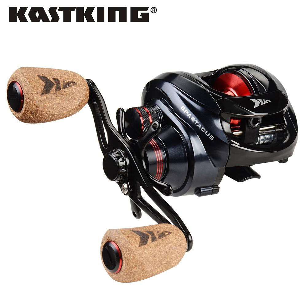 KastKing – Moulinet de pêche Spartacus et Spartacus Plus, double système de freinage, bobine 8 kg, glisser 11 + 1 BBs 6.3:1 haute vitesse et coulage d'appâts