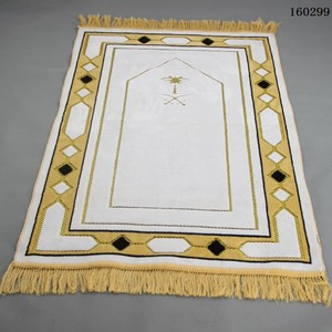 Image 3 - Cashmere Like Thick Prayer Mat Muslim 70*110cm Home Blanket Exquisite Decoration Bedroom Portable Namaz Islamic Praying Mats