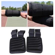 Ledmomo pulseira ponderada ajustável invisível placa de aço cinta de pulso para forte apoio weighted wrist envoltórios mão proteção