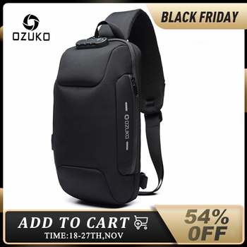 OZUKO 2021 New Multifunction Crossbody Bag for Men Anti-theft Shoulder Messenger Bags Male Waterproof Short Trip Chest Bag Pack