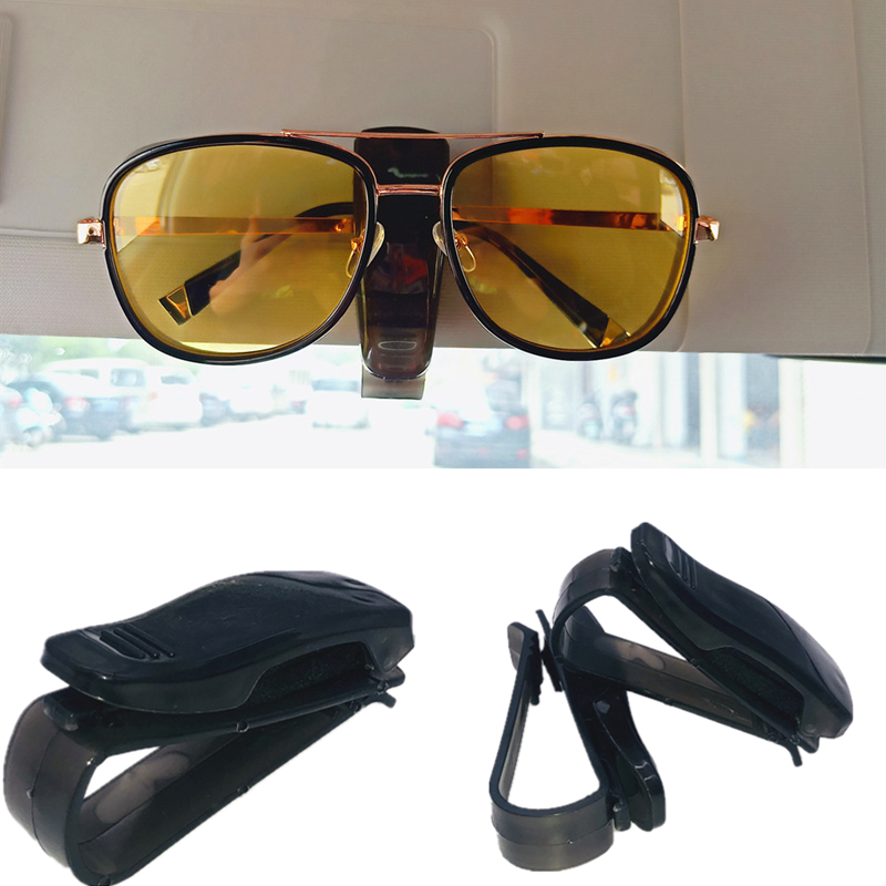 2019 Hot Portable Car Glasses Clip Automatic Fastening Car Car Sun Visor Sunglasses Glasses Frame Glasses Frame Ticket Holder