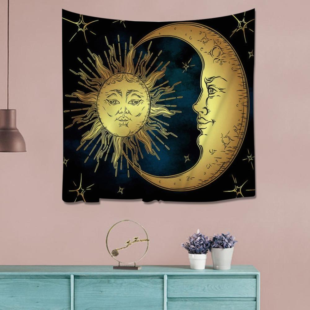 Indian Buddha Statue Tapestry Wall Hanging Decor Chakra Yoga Carpet Psychedelic Abstract Wall Cloth Elephant Tapestries
