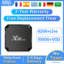 Sweden IP TV Box IPTV Spain Germany Italy Greek X96Mini Android 7.1 2+16G IUDTV Portugal Turkey Subscription 1 Year