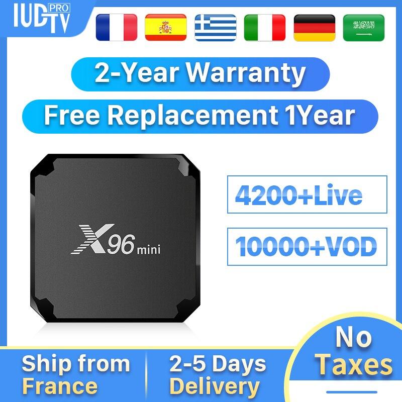 Zweden IP TV Box IPTV Spanje Duitsland Italië Griekse X96Mini Android 7.1 2 + 16G Portugal Turkije IP TV abonnement IPTV 1 Jaar-in Set-top Boxes van Consumentenelektronica op  Groep 1
