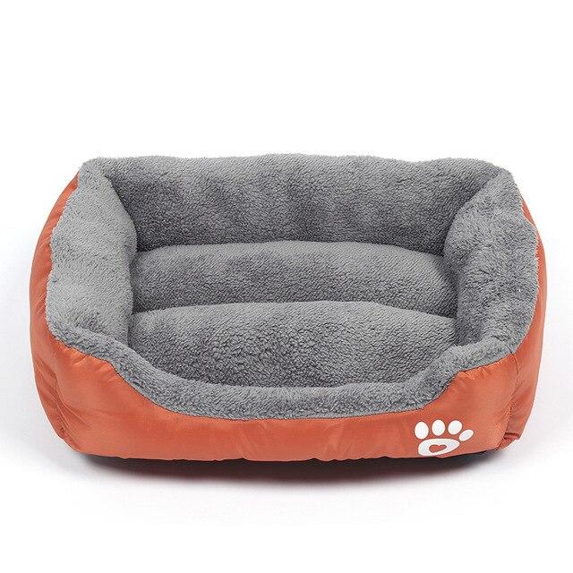 Pluche Comfort hondebed - kleur oranje 1