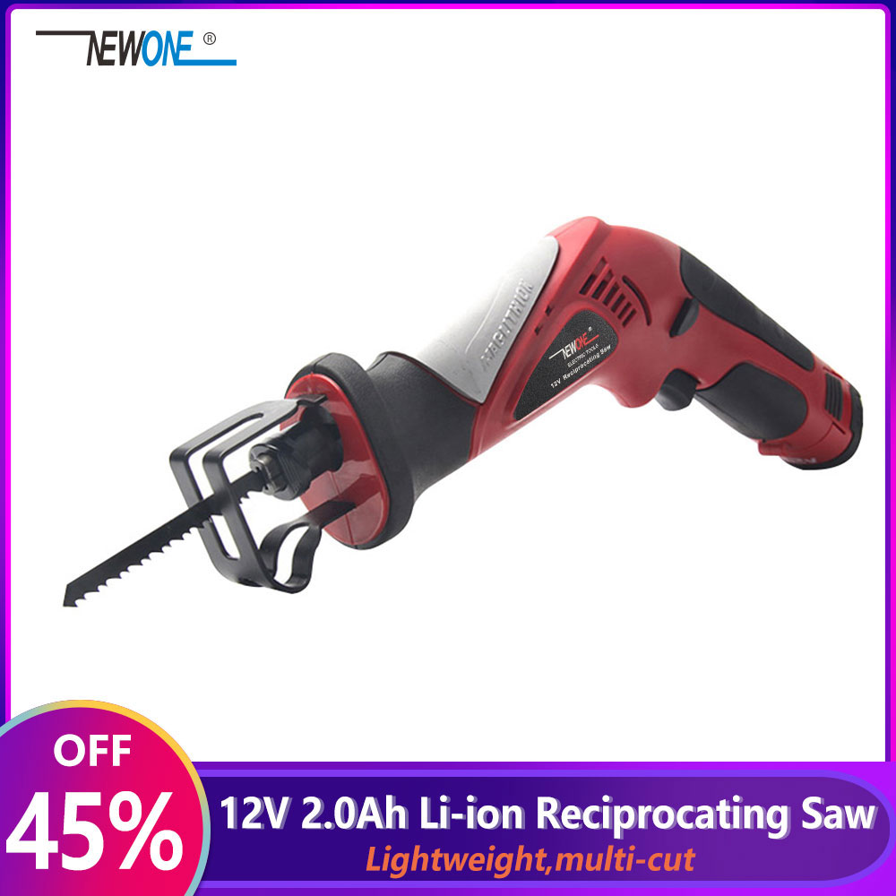 2000mAh 12V Lithium Reciprocating Saw Cordless Saber Saw Portable Electric Jig Saw with Adjustable Speed for Wood Metal Cutting