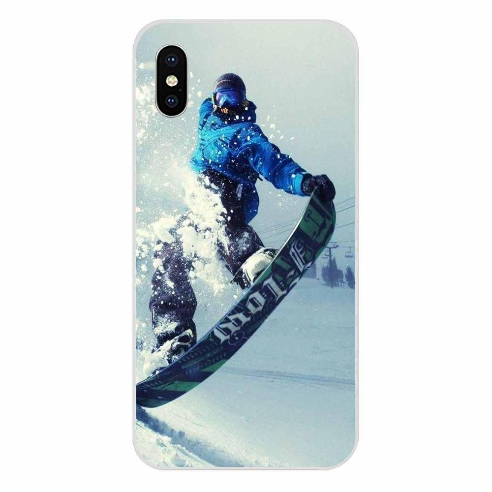 الثلج أو يموت التزلج على الجليد الرياضة طباعة لابل آيفون 4 4s 5 5C 5s SE 6 6S 7 8 Plus X XS ماكس XR غطاء سيليكون حقيبة
