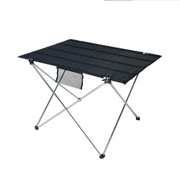 New multi color outdoor aluminum folding table casual mesh Oxford cloth beach table portable barbecue picnic table