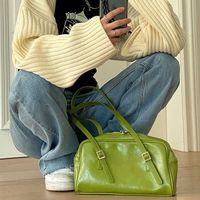 Sommer Mode Frauen Grün Große Schulter Taschen PU Leder Weibliche Geldbörse Handtaschen Große Kapazität Damen Täglichen Kleine Casual Tote