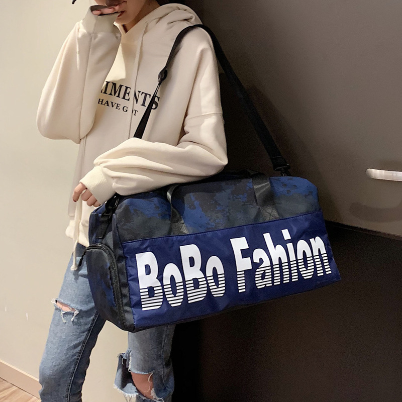 Manufacturers Direct Selling 2019 New Style Fashion Short Trip Travel Bag Korean-style Sports Yoga Gym Bag Wet And Dry Separatio