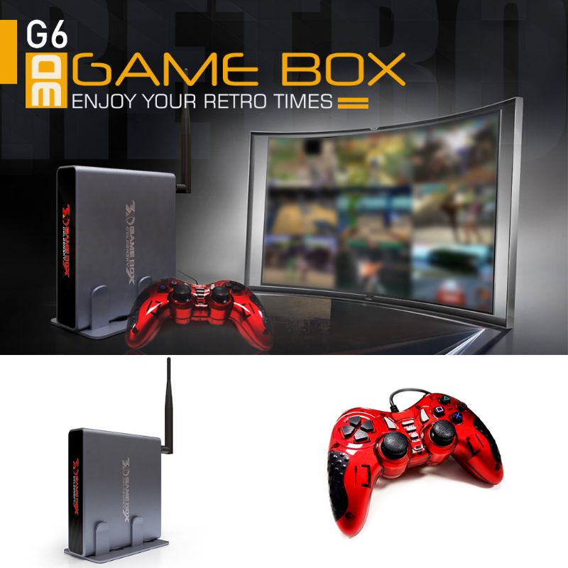 4K H DMI TV Gaming Edition Host 3DVideo Game Console Machine Build-In 2323 Free Game with WIFI Support All Game Emulator 10000+