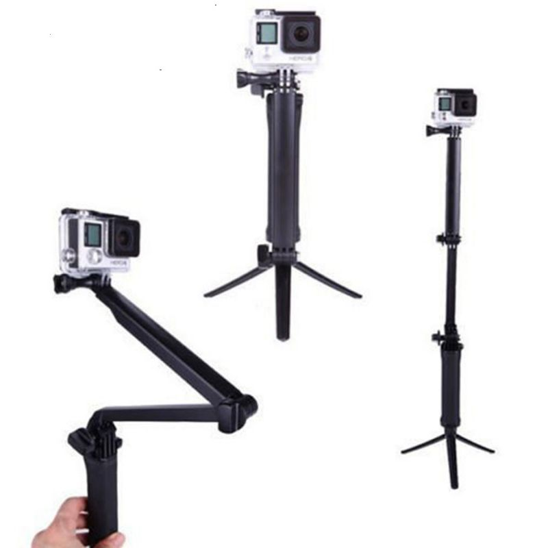 3 Way Grip водонепроницаемый монопод селфи палка Спортивная камера штатив кронштейн Складная подставка для Gopro Hero 5 6 4 для Xiaomi yi 4K