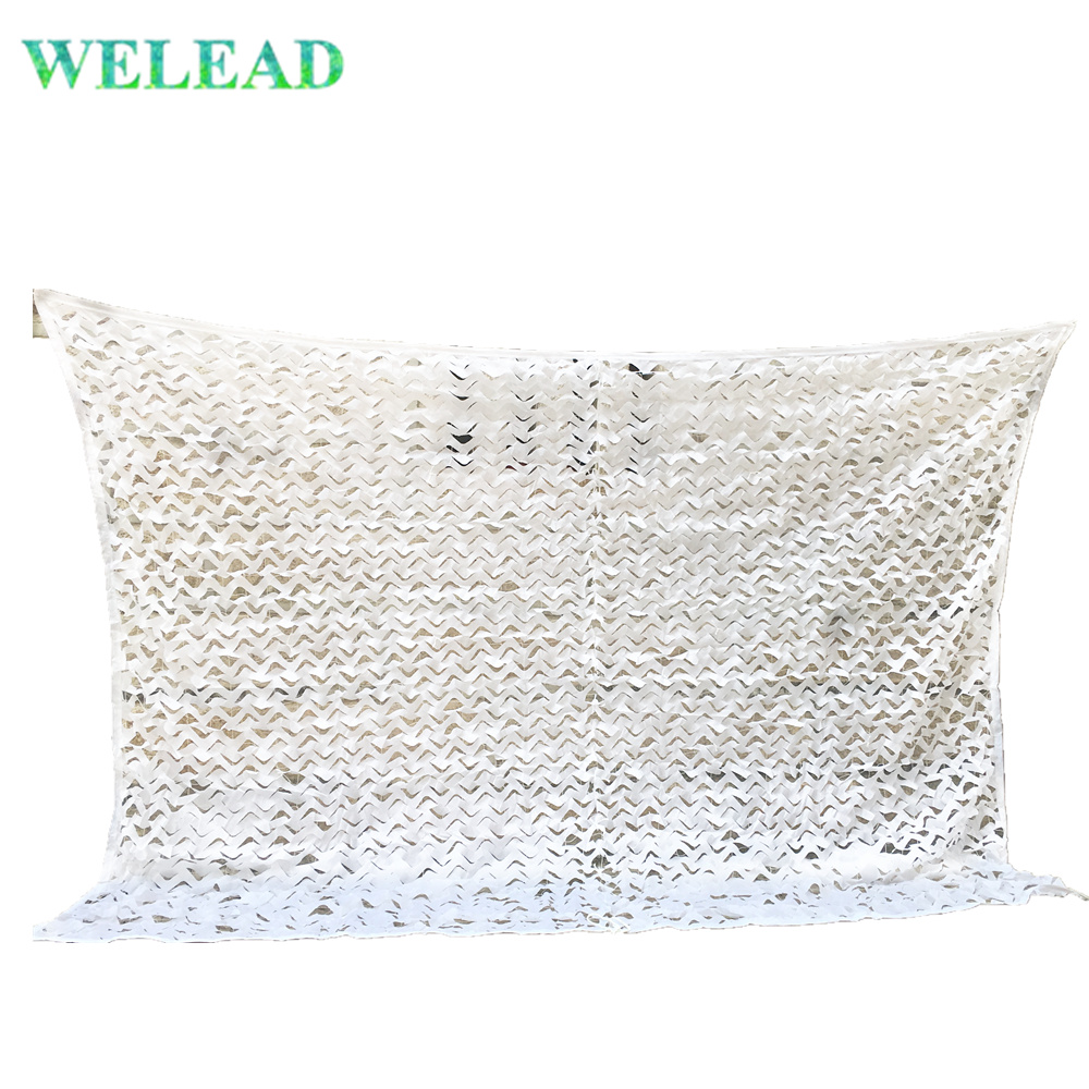 WELEAD 2 5M Military Camouflage Net White Reinforced for Garden Decoration Sun Shelter Outdoor Awning Terrace Patio Shading Camo in Sun Shelter from Sports Entertainment