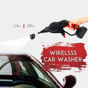 Image 2 - 20V 2.6MPa Cordless Senza Fili Tenuto In Mano Ad Alta Pressione Lavatrice Cleaner per la Pulizia Auto Lavaggio Auto per la Pistola Ugelli Tip 6m di Tubo Filtro