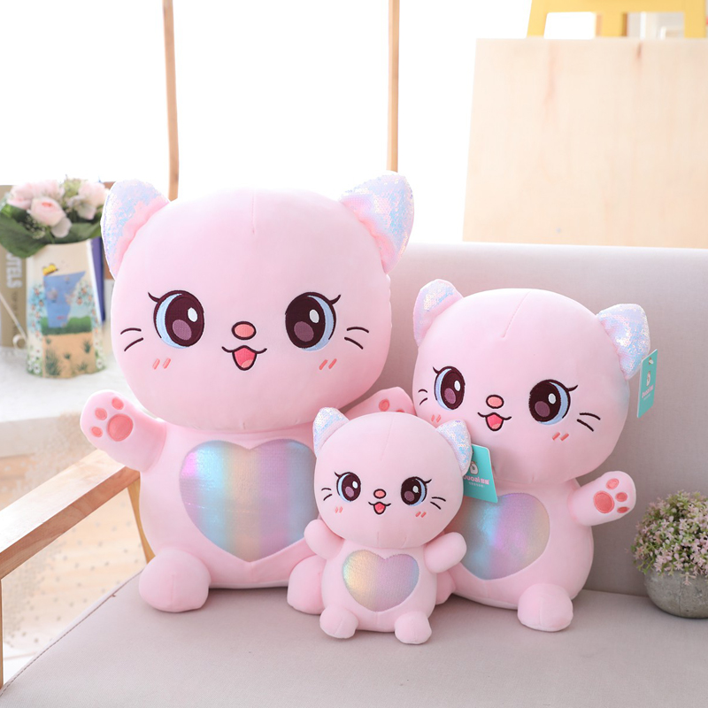 New Mermaid Style Cat Plush Toy Childrens Toys Soft Down Cotton Padded Gift Room Decoration