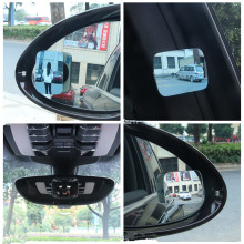 Car Mounted Boundless Glass Mirror Adjustable Angle Wide-angle Long Wide-vision Auxiliary Rearview Blue Filter