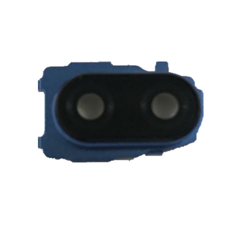 Note7 For Xiaomi Redmi Note 7 Camera Lens Glass Back Cover With Blue Metal Frame Holder Replacement Repair Parts
