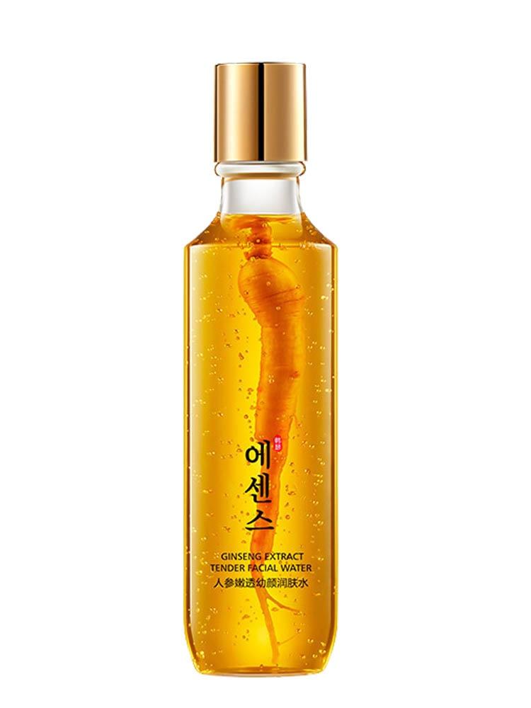 Face Tonic Ginseng Lotion Toner 120ML Moisturizing Whitening Anti-wrinkle Lifting Firming Brighten Skin Care Pore Minimizer P