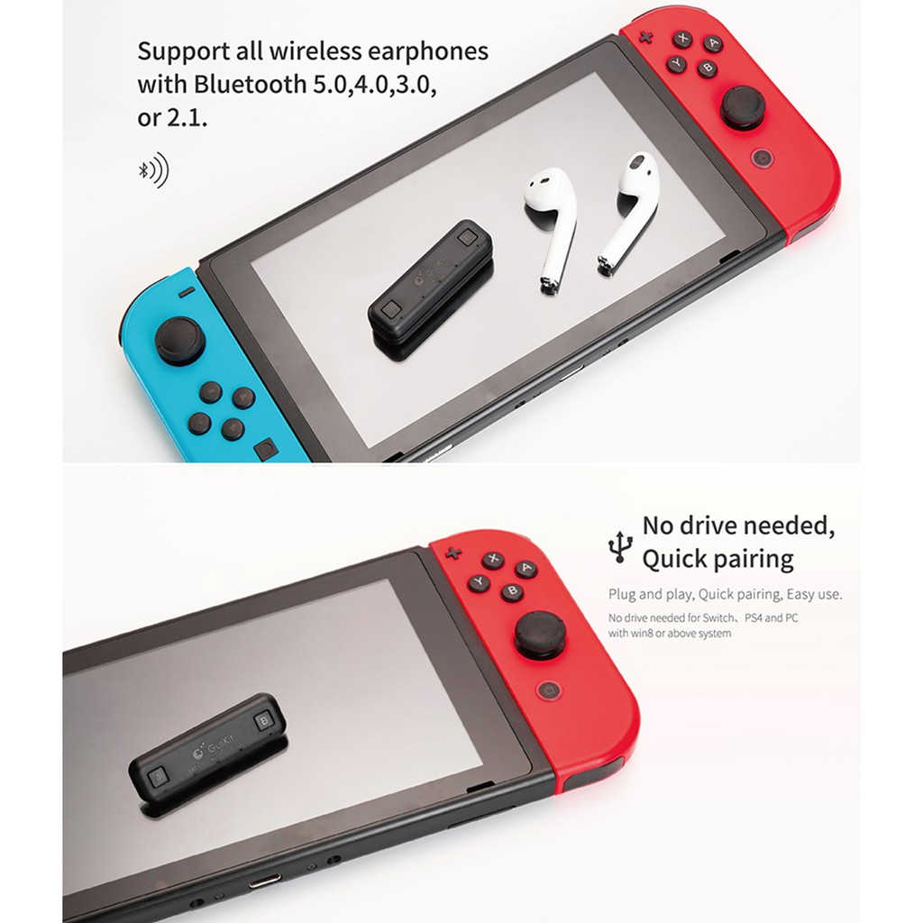 USB Nirkabel Bluetooth USB Adaptor Receiver untuk Nintendo Switch/Switch Lite Rute Udara Audio Transmitter untuk PS4 PC Konsol