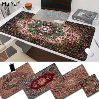Maiya Slip PC Persian Mini Woven Rug Mat Gaming Player desk laptop Rubber Mouse Mat Free Shipping Large Mouse Pad Keyboards Mat babaite non slip pc far cry 4 dead tiger natural rubber gaming mousepad desk mat free shipping large mouse pad keyboards mat