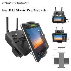 PGYTECH 7-10 iPad uchwyt na telefon komórkowy aluminiowy uchwyt płaski Tablet stojak na DJI Mavic Mini/Pro/Spark/Air/2 pilot zdalnego sterowania
