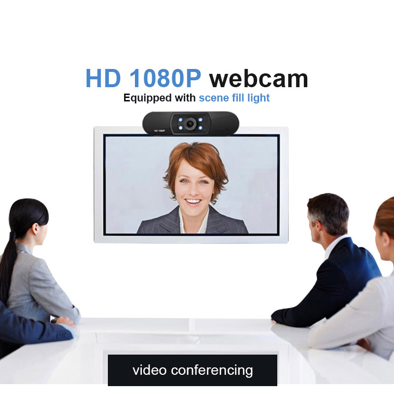 Full Hd Auto focus night vision webcam web camera video meeting conference Desktop USB with Microphone 1080 p Widescreen Video