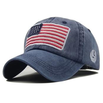 цена на Wholsale Fashion USA Flag Camouflage Baseball Cap For Men Women Snapback Hat Army American Flag Bone Trucker High Quality Gorras