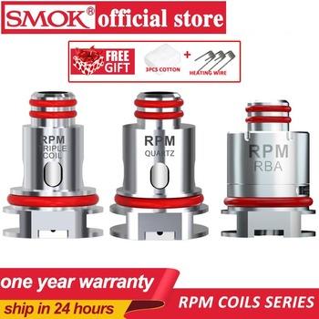 Nowy 5 sztuk pudło SMOK RPM40 cewka 0 4ohm RPM40 Mesh 0 6ohm potrójny 1 2ohm kwarcowy 1ohm SC cewka zastępcza dla SMOK RPM40 zestaw parownik tanie i dobre opinie RPM coils SMOK RPM40 Pod Vape DS Dual RPM mesh 0 4 ohm coil RPM triple coil 0 6ohm coil RPM SC 1 0ohm coil RPM Quartz 1 2ohm coil
